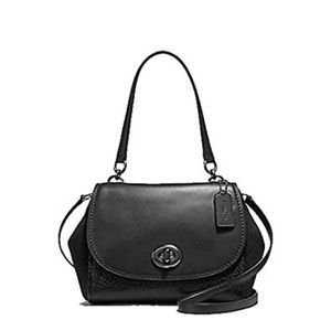 Coach Faye Black Leather Crossbody Bag